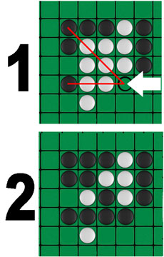 How to play Othello example