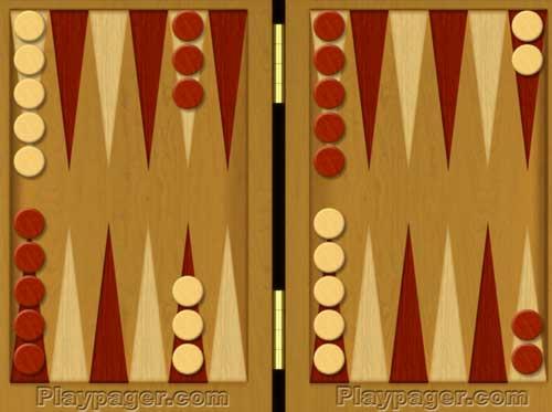 How to play backgammon - setup