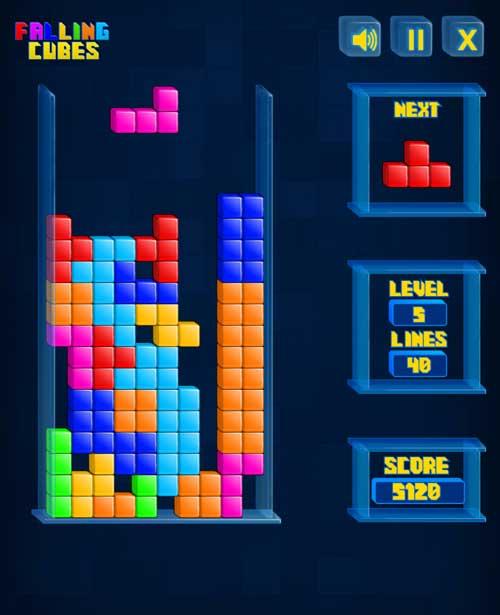 play tetris cube game