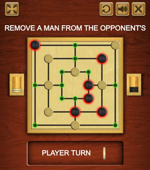 Play Nine men's morris / Mill game