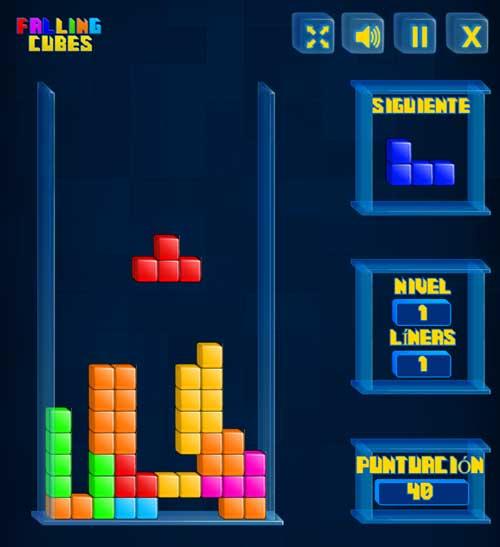 Juega el juego Falling Cubes en línea Tetris