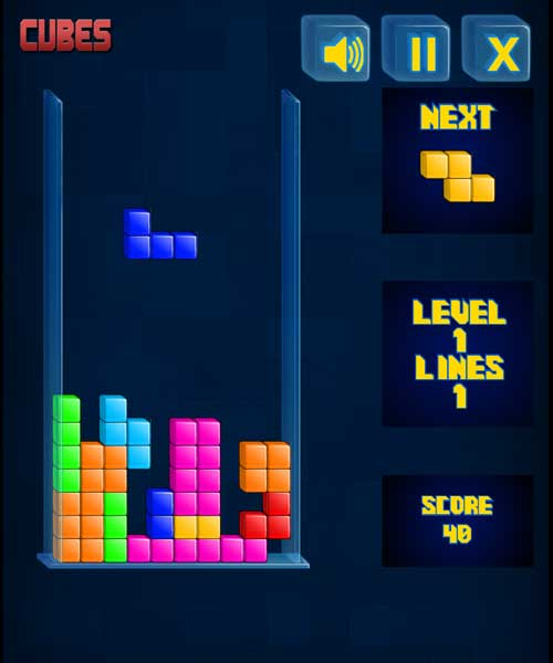Play cubes block puzzle game