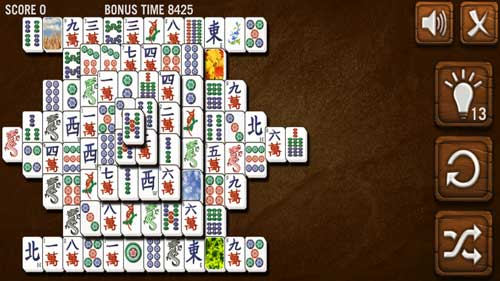 Mahjong solitaire online browser game